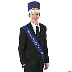 "Blue ""Homecoming King"" Sash"