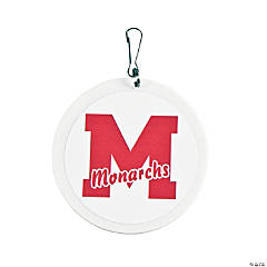 School Spirit Red Personalized Charms