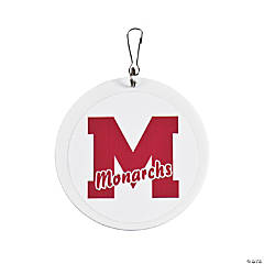School Spirit Burgundy Personalized Charms