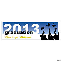 Personalized Silhouette Graduation Small Banner
