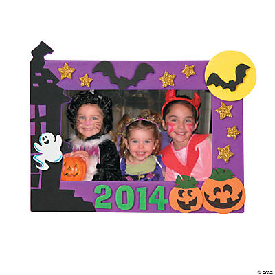 2014 Halloween Picture Frame Magnet Craft Kit - Makes 3