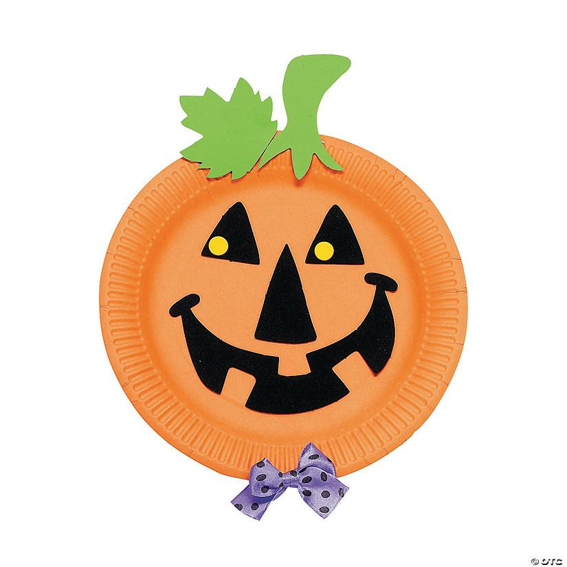 Paper Plate Pumpkin Craft Kit  sc 1 st  Oriental Trading & Paper Plate Pumpkin Craft Kit - Discontinued