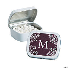 Personalized Brown Monogram Mint Tins