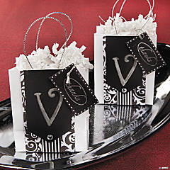 Monogram Thank You Favor Bags Idea