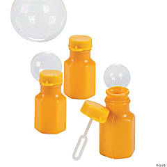 Gold Hexagon Bubble Bottles