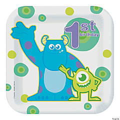 1st Birthday Monsters, Inc. Dinner Plates