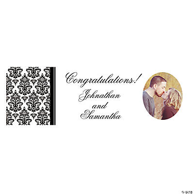 Black & White Wedding Medium Custom Photo Banner