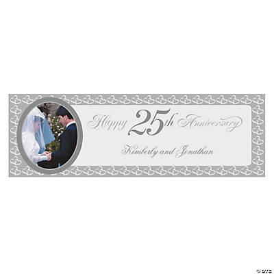 25th Anniversary Medium Custom Photo Banner