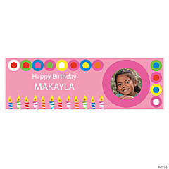 Girls Birthday Medium Custom Photo Banner