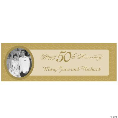 50th Anniversary Small Custom Photo Banner