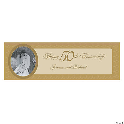 50th wedding anniversary banner ideas