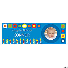 Boys Birthday Small Custom Photo Banner