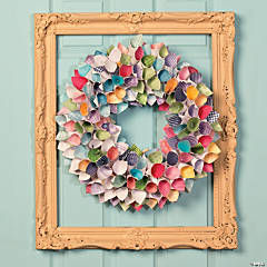 Spring Paper Wreath Idea