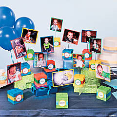 Birthday Block Centerpieces