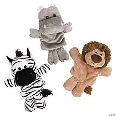 Plush Safari Hand Puppet Set