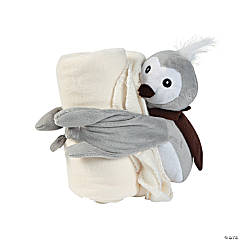 Plush Owl with Blanket