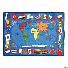 Flags Of The World© Classroom Rug