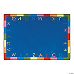 Rainbow Alphabet® Classroom Rug - 7 ft. 8 x 10 ft. 9 Soft