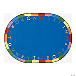 Rainbow Alphabet® Classroom Rug - 7 ft. 8 x 10 ft. 9 Oval Soft