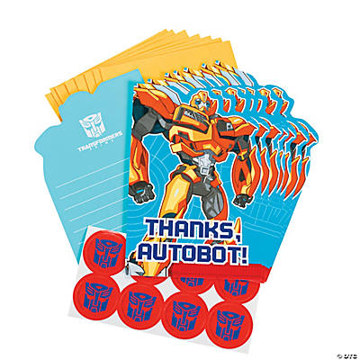 "Transformers: Prime™ ""Thank You"" Cards"