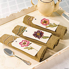 Pressed Flower Tags Idea