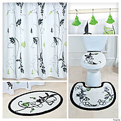 Black & White Floral Bathroom Collection