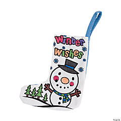 Color Your Own Mini Winter Stockings