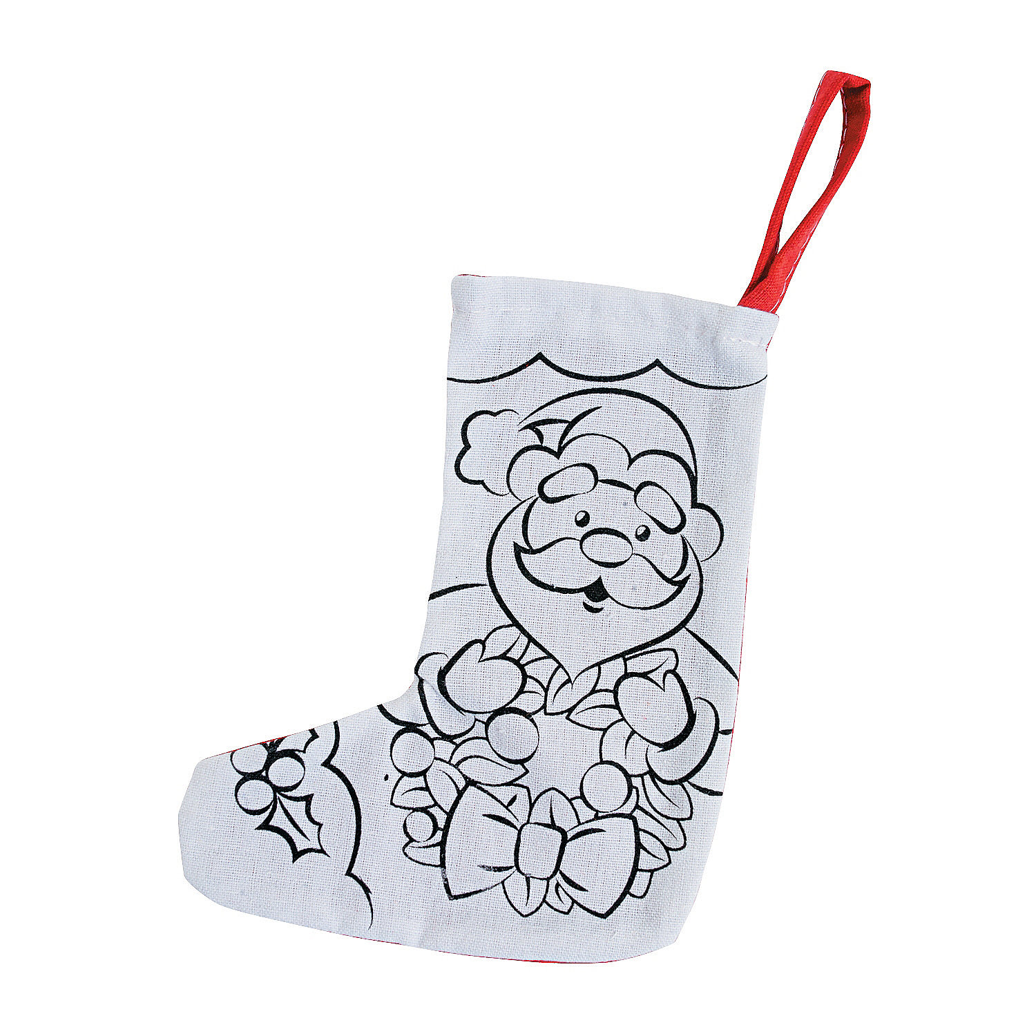 Color Your Own Religious Christmas Ornaments: Color Your Own Mini Christmas Stockings, Coloring Crafts