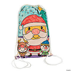 Color Your Own Christmas Backpacks