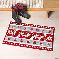 Fair Isle Winter Hooked Rug