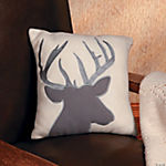 Stag Silhouette Pillow