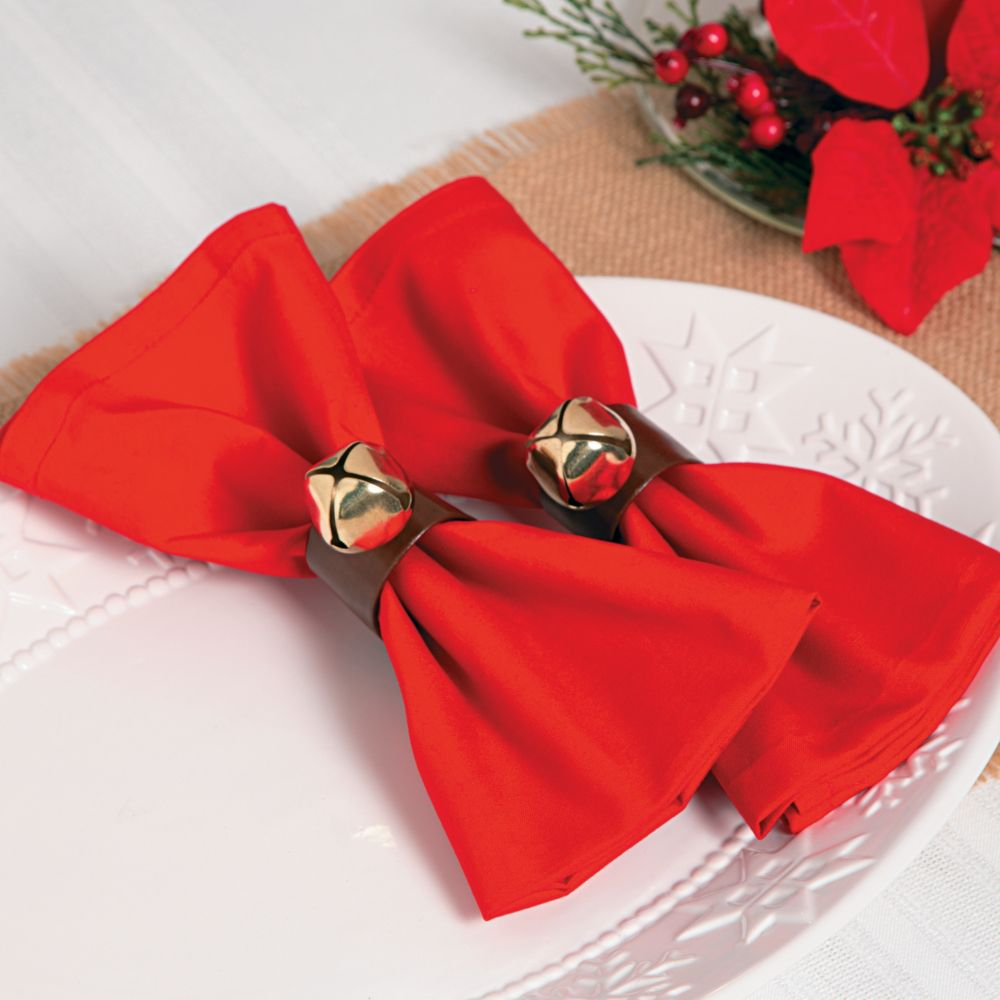 Jingle Bell Napkin Rings - Napkins & Napkin Rings