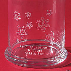 Personalized Snowflake Candy Jar