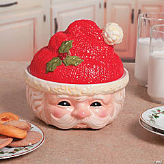 Santa Bowl with Lid
