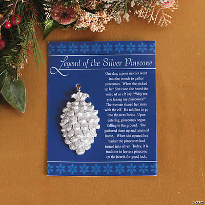 """Legend of the Silver Pinecone"" Christmas Ornaments"