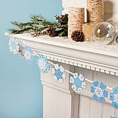 Layered Felt Snowflake Garland