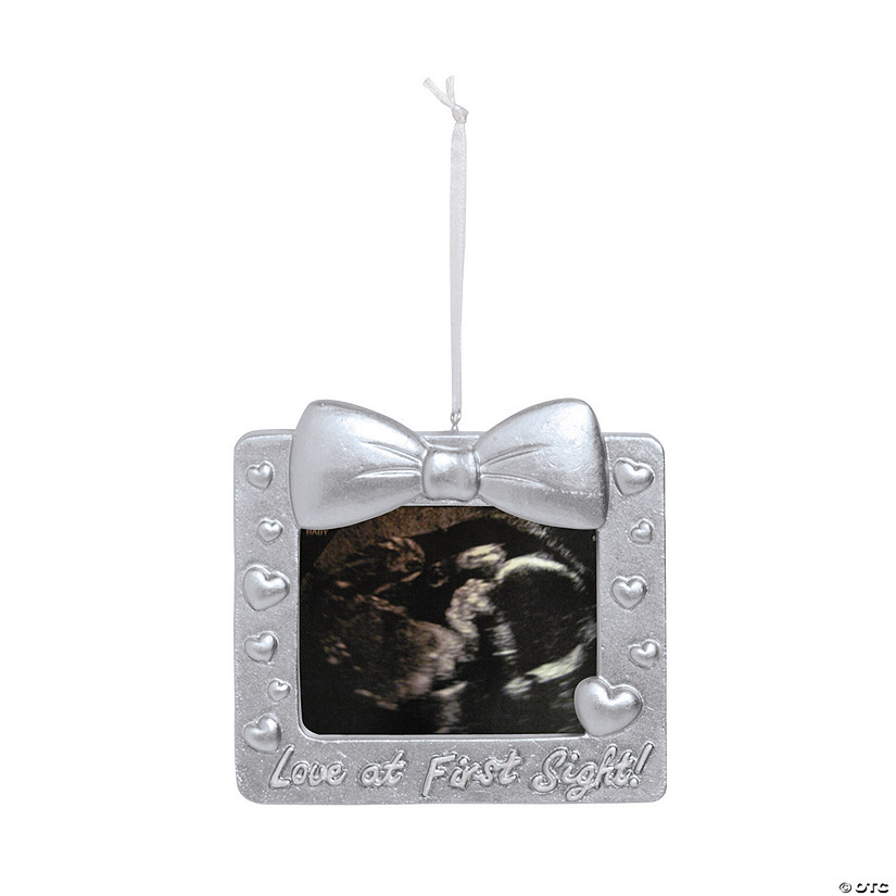Ultrasound Picture Frame Christmas Ornament