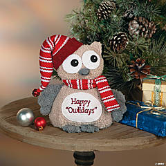 Plush Christmas Owl
