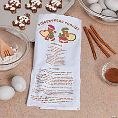 Gingerbread Recipe Christmas Kitchen Towel