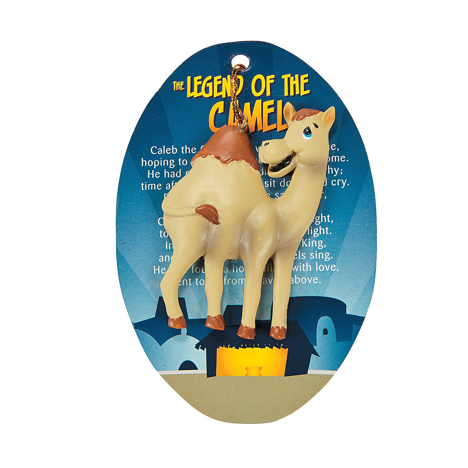 "Legend Of The Christmas Tree Poem: ""Legend Of The Camel"" Christmas Ornaments On Card"