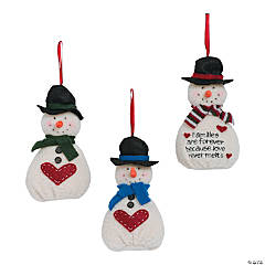 Softy Snowmen Christmas Ornaments