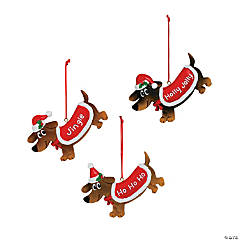 Weenie Dog Christmas Ornaments