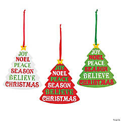 Words of the Season Christmas Ornaments