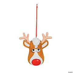Reindeer Face Christmas Ornament