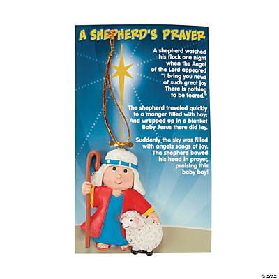"""A Shepherd's Prayer"" Christmas Ornaments on Card"
