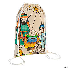 Color Your Own Religious Drawstring Bags