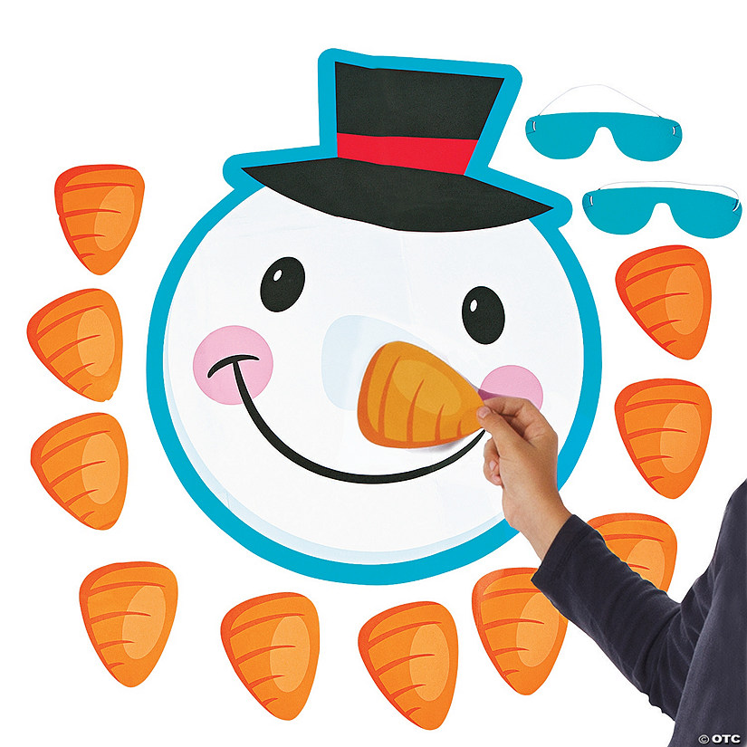 Pin the Nose on the Snowman Party Game