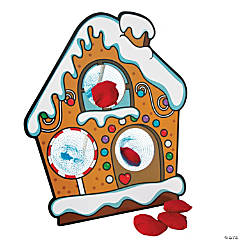 Gingerbread House Bean Bag Toss Game
