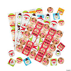 Cheery Christmas Character Self-Adhesive Shapes