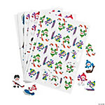 Self-Adhesive Snowman Winter Sports Shapes